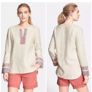 Tory Burch | 14 | McKenna embroidered linen tunic